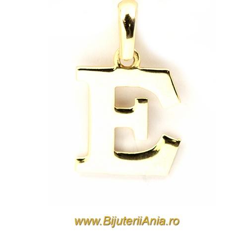 Bijuterii aur galben medalioane colectie noua litera E