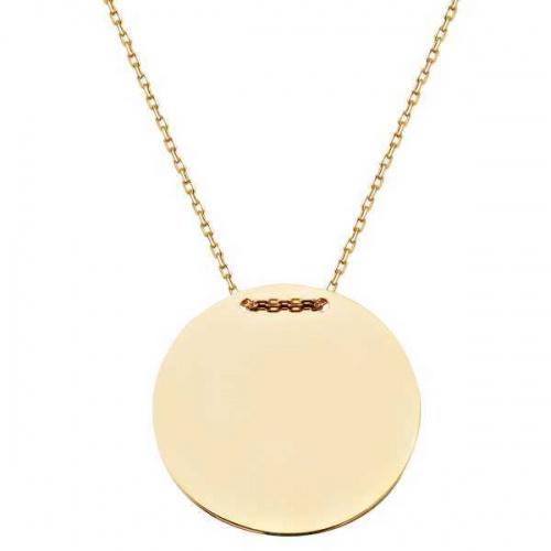 Bijuterii aur lant cu medalion colectie noua BANUT 2 cm
