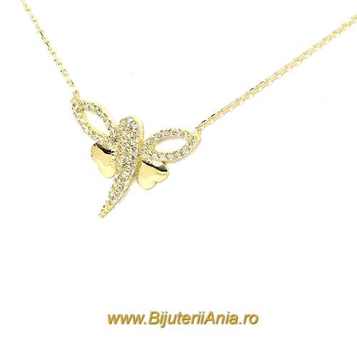 Bijuterii aur galben lanturi cu medalion colectii noi LIBELULA