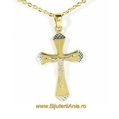 Bijuterii aur galben lant cu medalion colectie noua