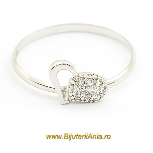 Bijuterii aur alb inele de logodna colectii noi INIMIOARA