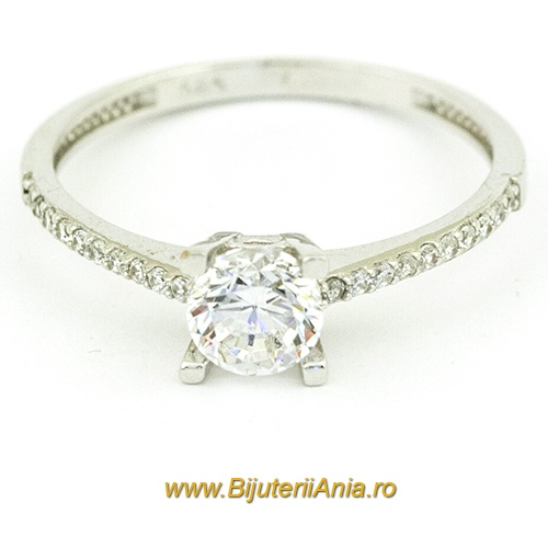 Bijuterii aur alb inele de logodna colectii noi SOLITAIRE