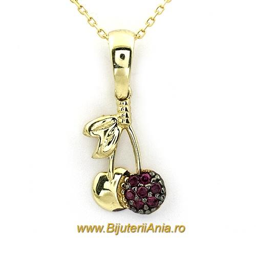 Bijuterii aur lant cu medalion colectie noua CIRESE