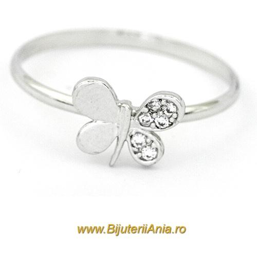 Bijuterii aur alb inele de logodna colectii noi FLUTURAS