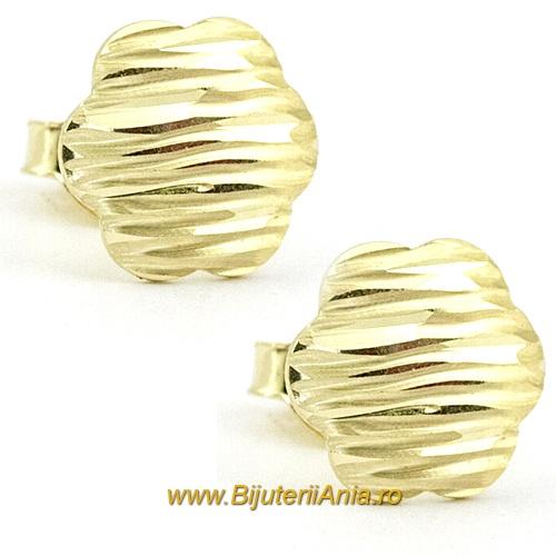 Bijuterii aur galben cercei ieftini colectii noi FLOARE