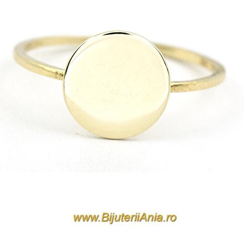 Bijuterii aur galben inele de logodna colectie noua BANUT 1.1 cm