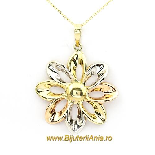Bijuterii aur lant cu medalion colectie noua FLOARE