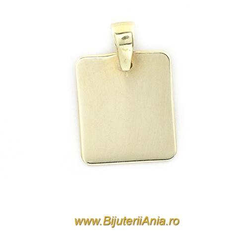 Bijuterii aur galben medalion colectie noua PATRAT
