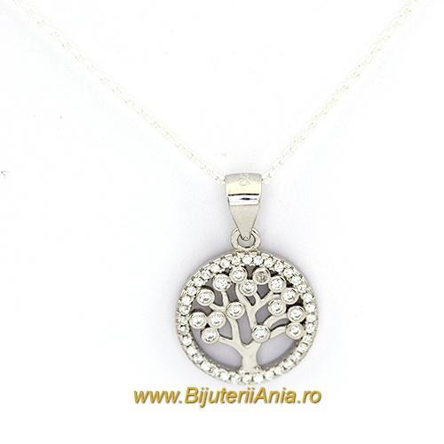 Bijuterii argint lant cu medalion colectie noua  POMUL VIETII