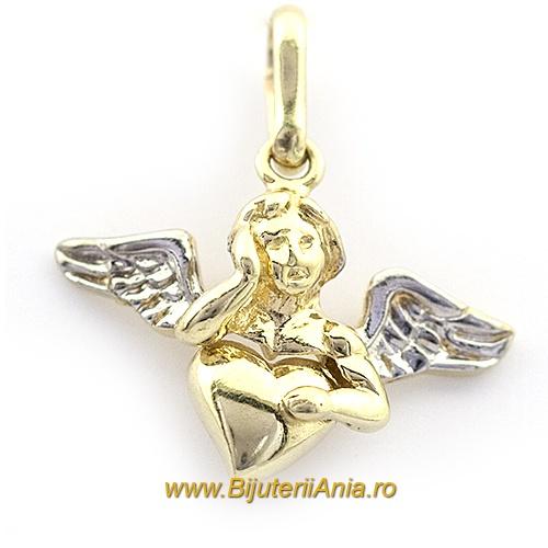 Bijuterii aur galben aur alb medalion colectie noua INGERAS