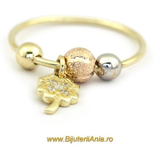 Bijuterii aur galben aur alb aur roz inel colectie noua CHARMURI