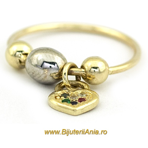 Bijuterii aur galben aur alb inel colectie noua CHARMURI