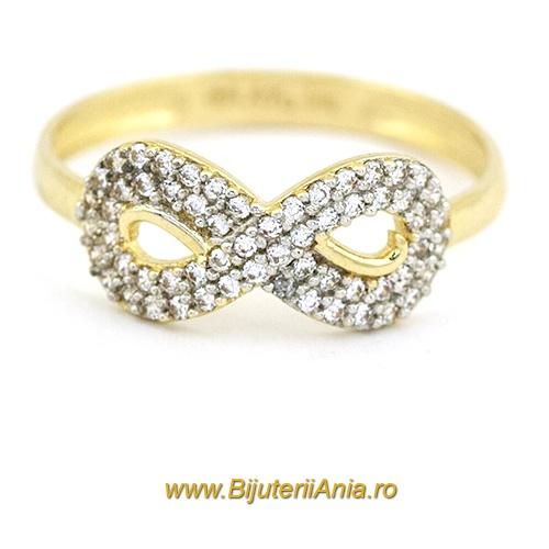 Bijuterii aur galben inel colectie noua INFINITY