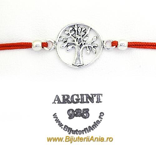 Bijuterii argint 925 bratara snur rosu colectie noua martisor POMUL VIETII
