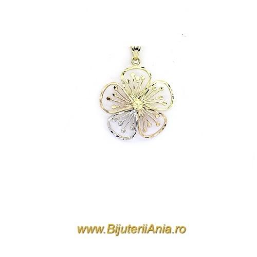 Bijuterii aur galben Medalion colectie noua Floricica