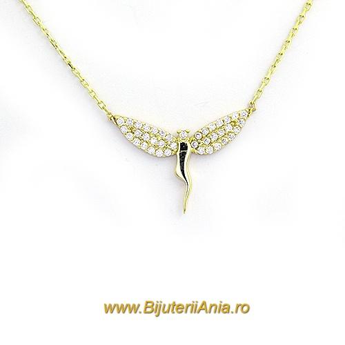 Bijuterii aur galben lanturi cu medalion colectii noi ZANA