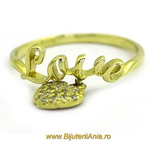 Bijuterii aur galben inele  colectii noi CHARMURI LOVE