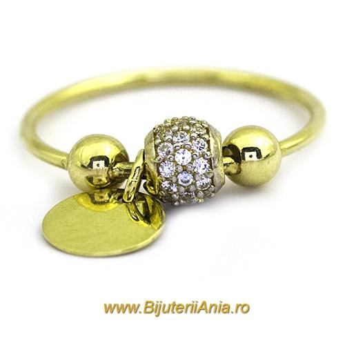 Bijuterii aur galben inele de colectii noi CHARMURI cu BANUT