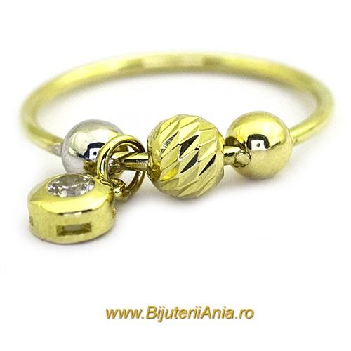 Bijuterii aur galben inele  colectii noi CHARMURI