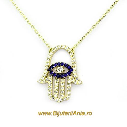 Bijuterii aur galben lant cu medalion colectii noi PALMA FATIMEI