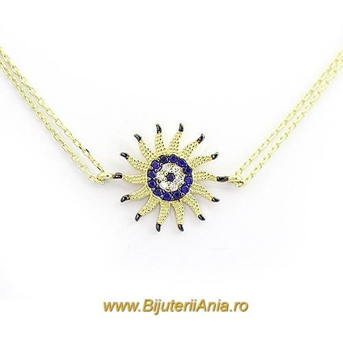 Bijuterii aur galben lant cu medalion colectii noi SOARE