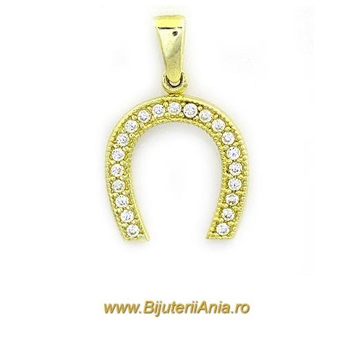 Bijuterii aur galben medalion colectie noua POTCOAVA