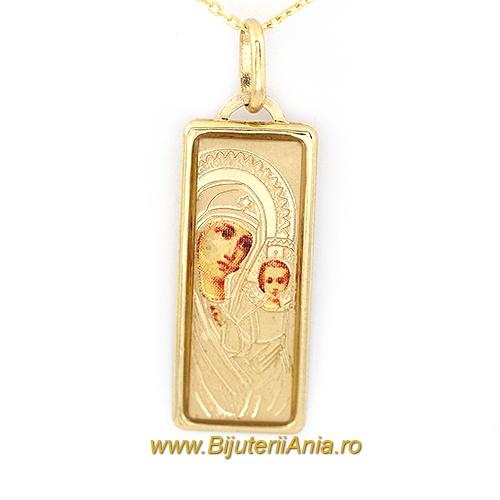 Bijuterii aur galben lanturi cu medalion colectii noi MAICA DOMNULUI
