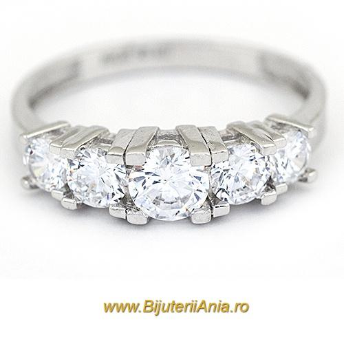 Bijuterii aur alb inel logodna colectie noua