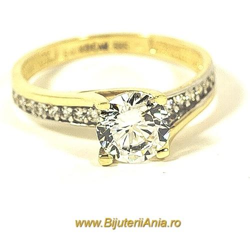 Bijuterii aur galben inele de logodna colectii noi R 18