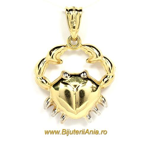 Bijuterii aur medalion zodia RAC