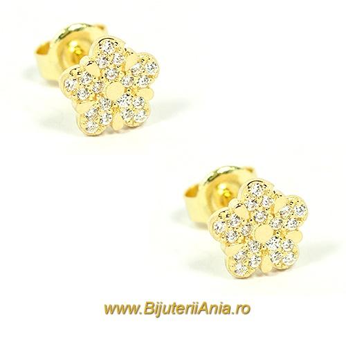 Bijuterii aur galben cercei colectie noua