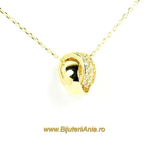 Bijuterii aur lant cu medalion colectie noua