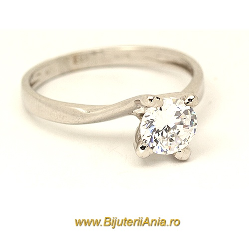 Bijuterii aur alb inel de logodna colectie noua ITALIA SOLITAIRE