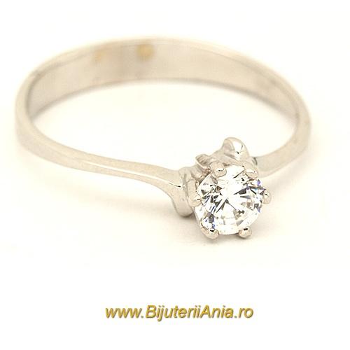 Bijuterii aur alb inel logodna colectie noua ITALIA