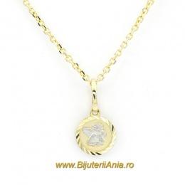 Bijuterii aurcopii lant cu medalion colectie noua INGERAS