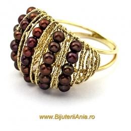 Bijuterii aur galben inel de logodna colectie noua PERLUTE