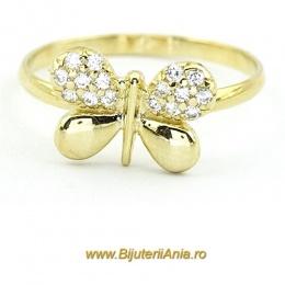 Bijuterii aur galben inele de logodna colectie noua FLUTURAS