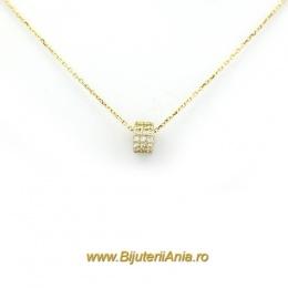 Bijuterii aur galben lant cu medalion colectie noua CHARMURI
