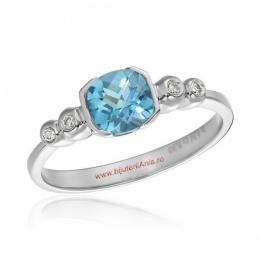 Bijuterii aur alb inele de logodna cu diamante colectie noua ITALIA