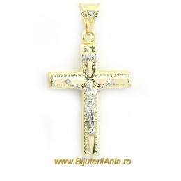 Bijuterii aur galben aur alb medalion colectie noua CRUCE