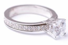 Bijuterii aur alb inele logodna antistress