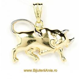 Bijuterii aur galben medalion zodia TAUR