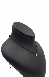 Bijuterii aur galben Choker pe snur negru colecie noua INIMA