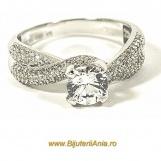 Bijuterii aur alb inel de logodna colectie noua