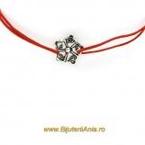 Bijuterii argint bratari cu snur rosu FLOARE