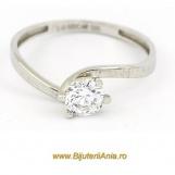 Bijuterii aur alb inele de logodna modele noi SOLITAIRE