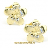 Bijuterii aur galben cercei colectii noi FLORICICA