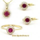 Bijuterii aur seturi cu rubin colectii noi