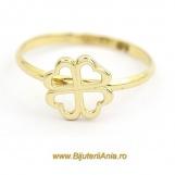 Bijuterii aur galben inele de logodna colectie noua TRIFOI CU PATRU FOI