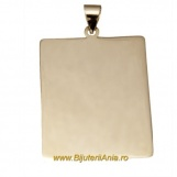 Bijuterii aur galben pandantiv colectie noua PLACUTA 3 cm